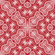 Seamless red lace pattern — Stock vektor