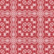 Stock Vector: Seamless red lace pattern