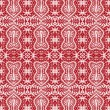 Seamless red lace pattern — Stock Vector