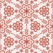 Seamless red lace pattern — ストックベクタ