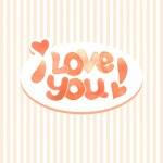 "Inscription ""I love you"" — Stock Vector #32563651"