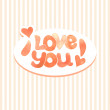 "Inscription ""I love you"" — Stock Vector"