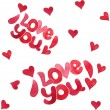 "Seamless pattern ""I love you"" — Stock Vector"