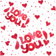 Seamless pattern I love you — Stockvektor