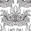 Vintage seamless background baroque pattern — Stock Vector