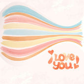 Inscription I love you — Vector de stock