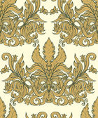 Vintage seamless background baroque pattern — Vector de stock