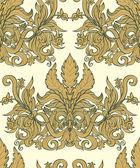 Vintage seamless background baroque pattern — Wektor stockowy