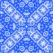 Seamless lace pattern with Christmas symbols — Stock Vector