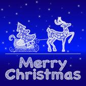 Sömlös spetsmönster med julen symboler — Stockvektor