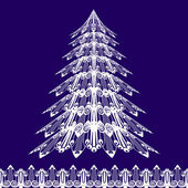 X-mass tree in art nouveau style — Stock Vector