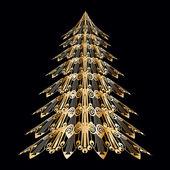 X-mass tree in art nouveau stile — Stock Vector