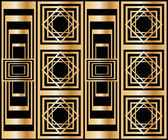 Seamless pattern with abstract geometric pattern in art deco stile — Stock Vector