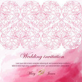 Wedding invitation decorated with white hearts — Stockvektor