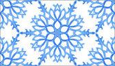 Achtergrond met aquarel sneeuwvlokken — Stockvector