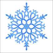 Watercolor blue snowflake — Stock Vector