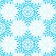 Seamless pattern with watercolor snowflakes and lace — Stockfoto