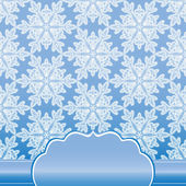 Seamless pattern with snowflakes of lace — Stock Photo