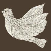 Ornamental decorative abstract bird — Vettoriale Stock