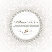 Düğün kartı — Stok Vektör