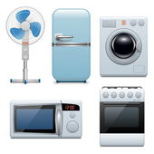 Vector household appliances icons — Stock Vector
