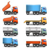Vector truck icons — Stock Vector