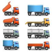 Vector truck icons — Stock Vector