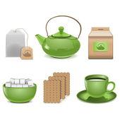 Vector tea icons — Stock Vector