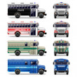 Vecteur: Vector special bus icons