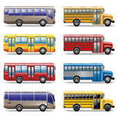 Vector bus icons — Stockvektor