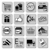 Wektor zakupy zestaw ikon — Wektor stockowy