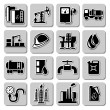 Vector oil industry icons — Stock Vector