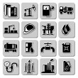 Vector oil industry icons — Stock Vector #28532243