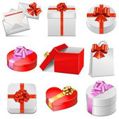 Vector gift packing icons — Stock Vector