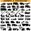 Stock Vector: Vector commercial vehicles pictograms