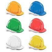 Vector helmet icons — Stock Vector