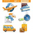 Vector travel icons set 1 — Stock Vector