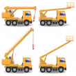 Stock Vector: Vector Construction Machines Set 1