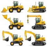 Вектор строительных машин набор 3 — Cтоковый вектор #30029423