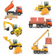 Vector Construction Machines Set 4 — 图库矢量图片