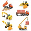 Vector Construction Machines Set 4 — Stock Vector #30029553