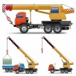 Stock Vector: Vector Construction Machines Set 5