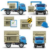 Vector shipment icons set 7 — Stock Vector