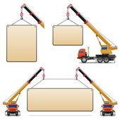 Machines de chantier vector set 6 — Vecteur