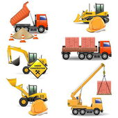 Vector Construction Machines Set 4 — Stock Vector