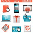 Stock Vector: Vector shopping icons set 2