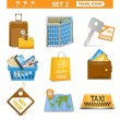 Vector travel icons set 2 — Stock Vector