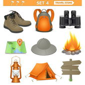 Vector travel icons set 4 — Stock Vector