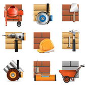 Vector Construction Work Icons — Stock Vector