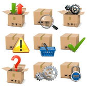 Vector Shipment Icons Set 8 — Stock Vector